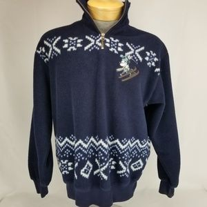 Mickey Mouse Skiing The Disney Store Fleece Pullov
